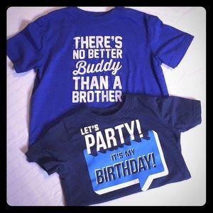 2 boys size 5t shirts